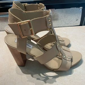 Steve Madden leather sandals 'Nevile' style heel